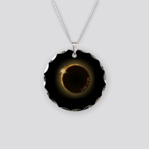 2017 total solar eclipse Necklace Circle Charm