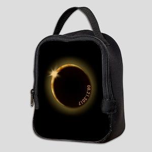 2017 total solar eclipse Neoprene Lunch Bag