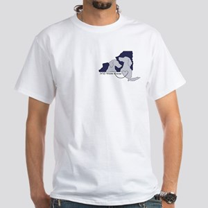 NYS Weim Rescue White T-Blue logo