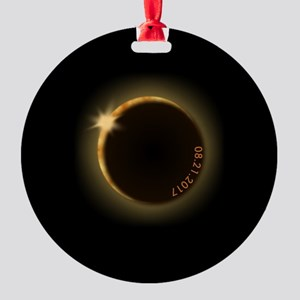 2017 total solar eclipse Round Ornament
