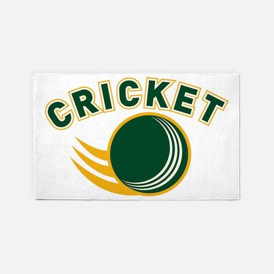 cricket ball flying 3'x5' Area Rug