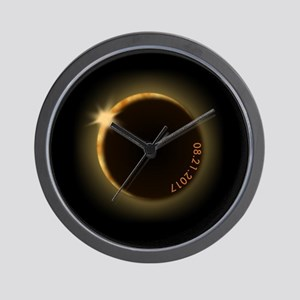 2017 total solar eclipse Wall Clock
