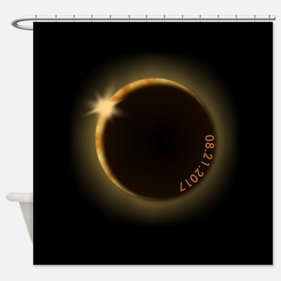 2017 total solar eclipse Shower Curtain