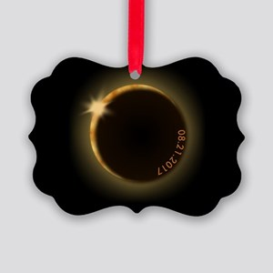 2017 total solar eclipse Picture Ornament