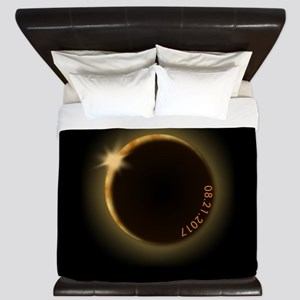 2017 total solar eclipse King Duvet