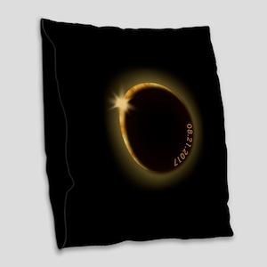 2017 total solar eclipse Burlap Throw Pillow