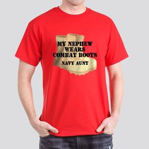 Navy Aunt Nephew Desert Combat Boots T-Shirt