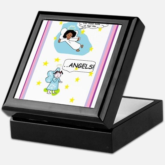 Nana two angels Keepsake Box