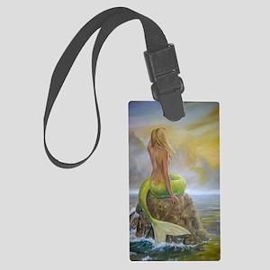 Dscn2303 mermaids perch portrait Large Luggage Tag