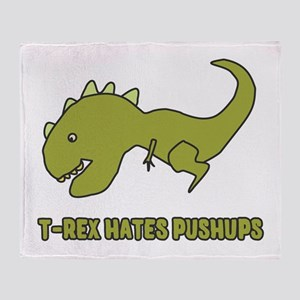 T-Rex Hates Pushups Throw Blanket