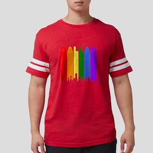 Dallas Gay Pride Rainbow Cityscape T-Shirt
