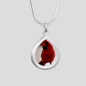 cardinal1_lgp Silver Teardrop Necklace