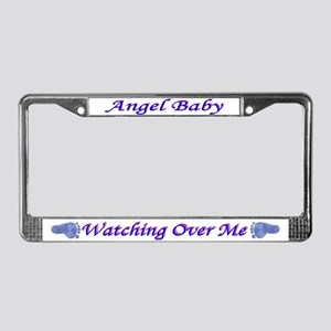License Plate Frame Angel Baby Boy