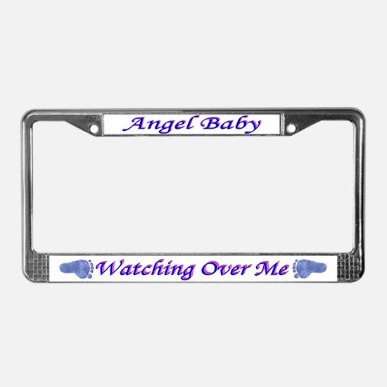 License Plate Frame Angel Baby Boy