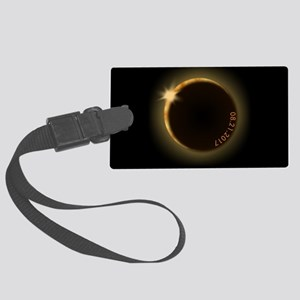 2017 total solar eclipse Large Luggage Tag