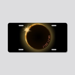 2017 total solar eclipse Aluminum License Plate