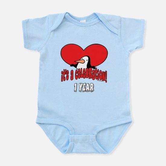 Penguin 1st Birthday Infant Bodysuit