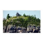 Huron Island Lighthouse Wide Angle Area Rug