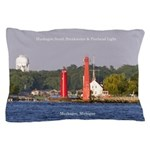 Muskegon Entrance Lights Pillow Case