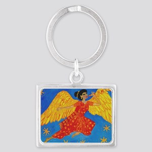 Indian angel Landscape Keychain