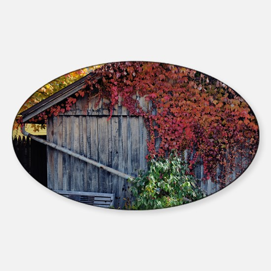 old_barn_calendar Sticker (Oval)