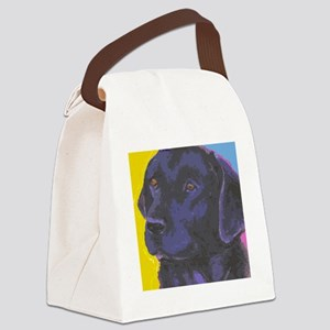 black lab cafe Canvas Lunch Bag