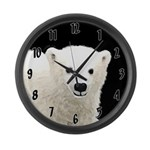 Polar Bear Cub Large Wall Clock