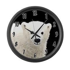 Polar Bear Cub Large Wall Clock