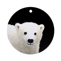 Polar Bear Cub Round Ornament