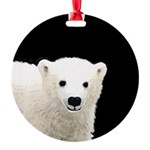 Polar Bear Cub Round Ornament