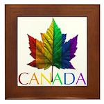 Canada Souvenir Framed Tile Gay Pride Art
