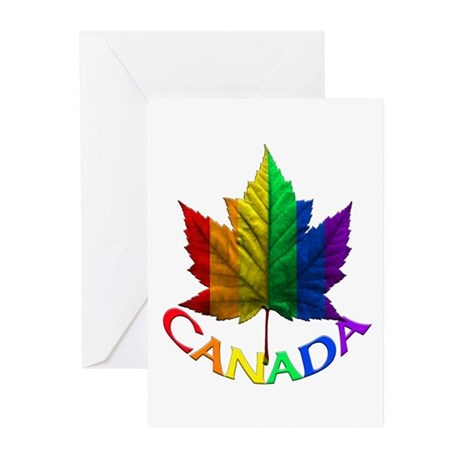 Canada Gay Pride Gifts Greeting Cards ( 10 Pk)
