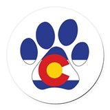 Colorado Round Car Magnets