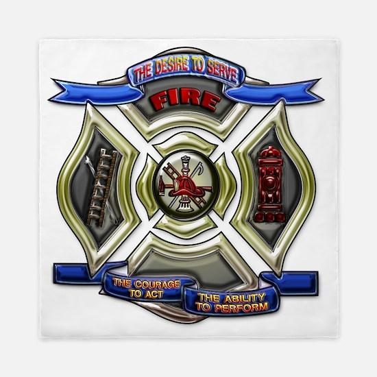 Fire Department Chrest Queen Duvet