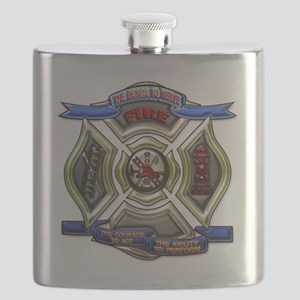 Fire Department Chrest Flask
