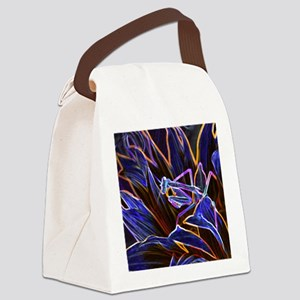 Preying Mantis in Sunflower Glowi Canvas Lunch Bag