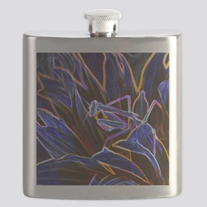 Preying Mantis in Sunflower Glowing Edges Flask