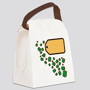 Price Tag Canvas Lunch Bag