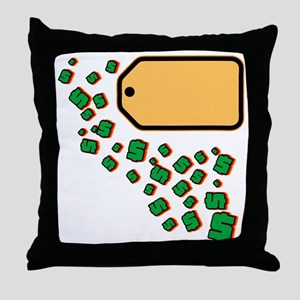 Price Tag Throw Pillow