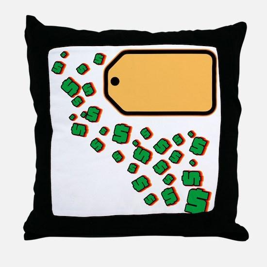 Price Tag Throw Pillow