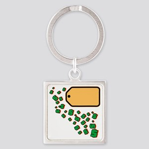 Price Tag Square Keychain