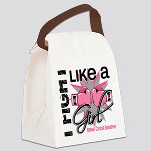 - Fight Like a Girl Breast Cancer Canvas Lunch Bag