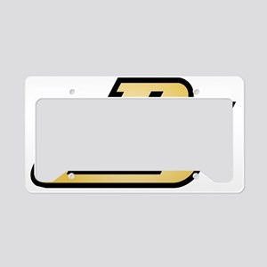 dj yelow License Plate Holder