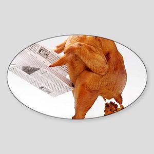 turky-poop Sticker (Oval)