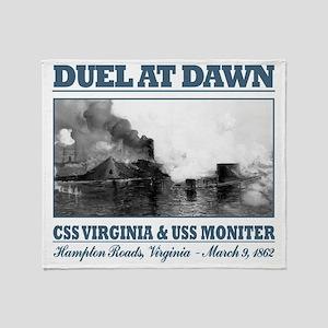 CSS Virginia vs USS Moniter 2 Throw Blanket