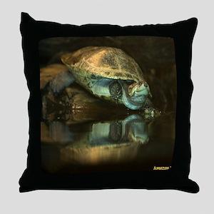 Amazon River Turtle Throw Pillow