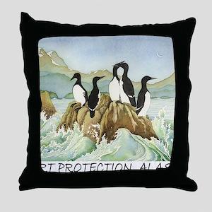 cormorant1TEXT Throw Pillow
