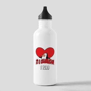Penguin 1st Birthday Water Bottle