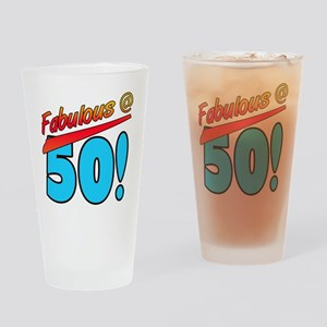 Fabulous At 50 Drinking Glass