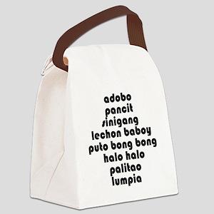 ListofFoodsBiggest Canvas Lunch Bag
